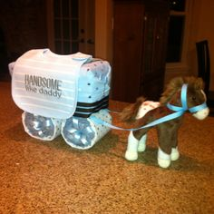 Horse & Carriage Diaper Cake - I know this will be used in the future