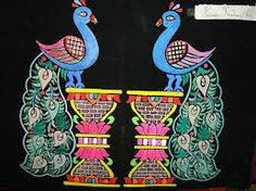 a pair of peacock Emboss Painting, Types Of Painting, Birds, Peacocks, Wedding, Image, Valentines Day Weddings, Emboss, Peacock