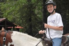 One of Deerhorn's most popular activities is horseback riding. #camp www.deerhorn.com