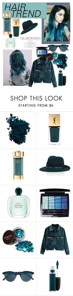 """""""Untitled #57"""" by ashlee-farnham ❤ liked on Polyvore featuring beauty, Laura Mercier, Yves Saint Laurent, Estée Lauder, rag & bone, Christian Dior, Oliver Peoples, MAC Cosmetics, hairtrend and rainbowhair"""