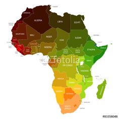 Africa Map Colored Countries Shapes #africa #map #maps #african map #african #country #countries #shape #form #color #colored #egypt #south africa #sudan #namibia #madagascar #zambia #algeria #angola #botswana #cameroon #djibouti #ethiopia #gambia #ghana #ivory coast #lesotho #libya #mali #morocco #mozambique #niger #nigeria #rwanda #senegal #tanzania #tunisia #uganda #zimbabwe #swaziland #south sudan #somalia #sierra leone #mauritius #malawi #liberia #kenya #guinea #eritrea