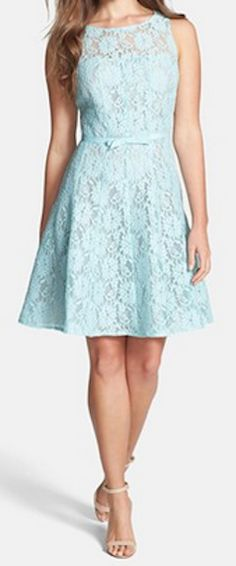 Lace fit & flare dress in #mint http://rstyle.me/n/haw49nyg6