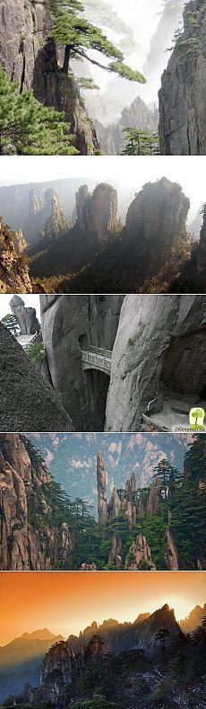 Горы Хуаншань в Китае: , видео, мост бессмертных. [1309] | Китай