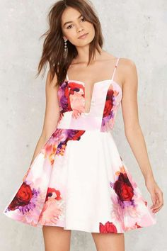 Grin and Flare It Floral Dress - What's New