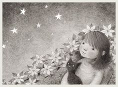 Stargazing, Kathy Hare illustration, http://moongazinghareillustration.blogspot.com/