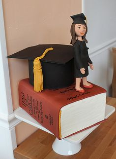 Graduation sculpted book cake | by Oakleaf Cakes