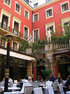 Hotel Costes courtyard.