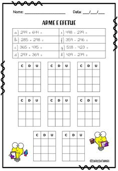 English Worksheets For Kids, Subtraction Worksheets, Montessori Elementary, Home Learning, Math Facts, Mathematics, Professor, School, Lala