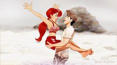 """Disney X The Notebook HAPPY VALENTINES DAY!  Here are Ariel and Eric recreating the Beach Date scene!"
