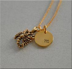 Personalized Scorpio Necklace Zodiac Necklace by thewrappedpixie