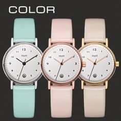 M&M Uhren Mini Basics: Pastelltöne für den Sommer