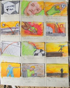 Page 7 of Trollie storyboards from sketchbook