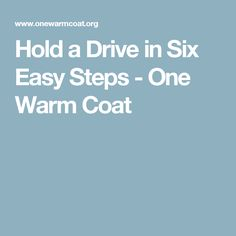 We will give you all of the tools and resources needed to hold a coat drive in 6 easy steps! Coat Drive, Pta School, Girl Scout Badges, Warm Coat, Holiday, Christmas, Hold On, Teacher, Magic