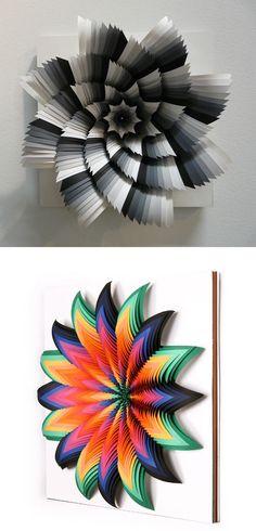Jen Stark's 'paper art'