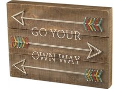 """For the adventurer in you or someone you know, this 15"""" x 11"""" box sign string art is a must have to display in the home or office."""