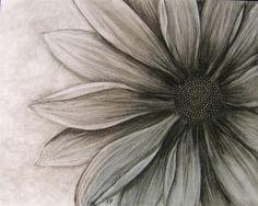 diasy tattoo black and grey | Black and White Daisy: Shaded Tattoo, Black And White Flower Tattoos ...