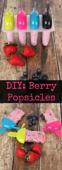 Skip the store-bought popsicles! Here's how to make creamy, frozen desserts they'll love that are good for them. Berries are also in season now : ) #healthytreats