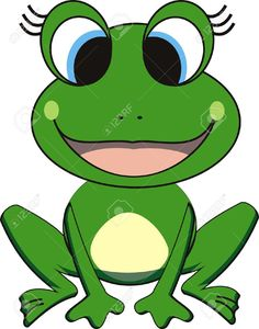 Cute frog cartoon FROG CLIPART Pinterest Frogs Cartoon and Rock