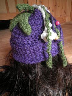 Eggplant crochet beanie