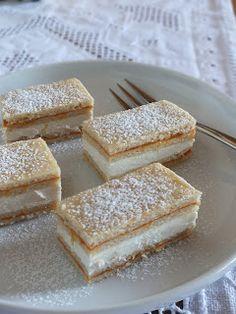 Ízőrző: Citromos szelet (mimóza szelet) Hungarian Desserts, Hungarian Recipes, Sweet Recipes, Cake Recipes, Dessert Recipes, Delicious Desserts, Yummy Food, Food Garnishes, Healthy Sweets