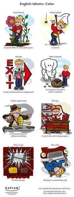 Free English Vocabulary Lesson - Color Idioms!