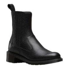 Women's Dr. Martens Eleanore Chelsea Boot Black Stone Leather