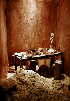 The miniature rooms of Charles Matton at AVA London III by Suzanna, via Flickr