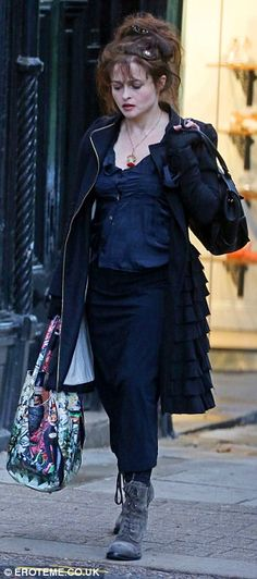 Helena Bonham Carter--I feel like this outfit is showing all the skeletons in her closet and not a single fuck is being given about it.