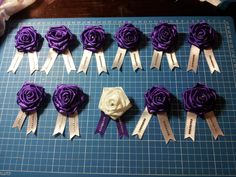 Hens Party corsages with handmade flowers - Han-crafted (c)