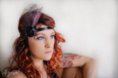 Flower Headpiece dripping beads Fascinator by AliBrownPhotography, $27.00