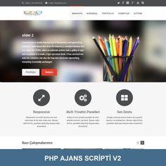 PHP Ajans Scripti. Mobil uyumlu, reklam ajansları ve web tasarımcılar için hazır site scripti. Php, Sliders, Romper