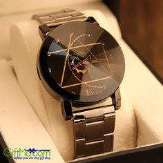 Unique Luxury Stainless Steel Wristwatch Mens Fashion Business Watch