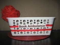 An easy DIY book ambulance to house books that are torn or damaged until they can be repaired.