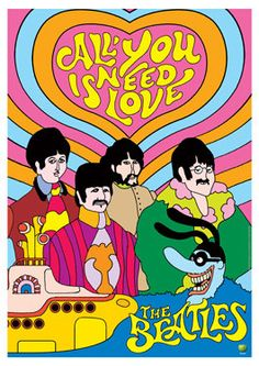 BEATLES  Yellow Submarine  All you need is love 1968  by tarlotoys, €10.00