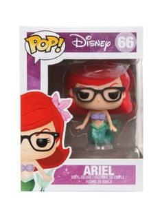 Disney Funko Pop! The Little Mermaid EXCLUSIVE Nerd Ariel Vinyl Figure RARE ~ Series 66