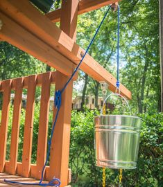 Add a Bucket With a Pulley to an Outdoor Playset in a Few Easy Steps