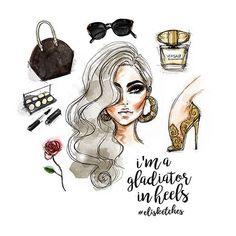 Be fearless, woman. ✨ High-resolution printable poster available in my ETSY shop. Link in bio.  .  #elisketches #fashionillustration #fashionillustrator #fashion #fashionsketch #fashionquote #quotes #sketch #artwork #artph #fashionblogger #fashionstyle #versace #louisvuitton #mac #makeup #filipino #fierce #feminism #beautiful #blackgold #gold #artistsoninstagram #vogue #fashionart #artstagram