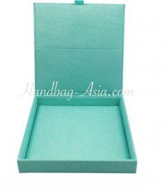 Aqua Blue Silk Invitation Box.Elegant invitation box for wedding and event invitation cards featuring silk