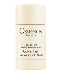 Calvin Klein OBSESSION MEN DEODORANT STICK 75G Deodorant stick to complement the Calvin Klein Obsession for Men fragrance. http://www.comparestoreprices.co.uk/perfumes/calvin-klein-obsession-men-deodorant-stick-75g.asp