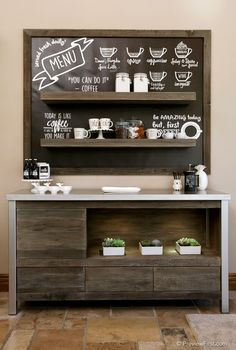 Best Home Coffee Bar Ideas for All Coffee Lovers We've assembled many creative suggestions for establishing a coffee bar in the house. These brilliant java stations will help you remain arranged as well as on spending plan. Coffee Bar Station, Coffee Station Kitchen, Home Coffee Stations, Coffee Shop, Coffee Bar Home, Coffee Lovers, House Coffee, Coffee Area, Coffee Center