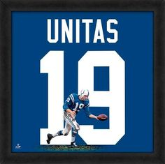 Johnny Unitas Framed Baltimore Colts 20x20 Jersey Photo - Sports Integrity
