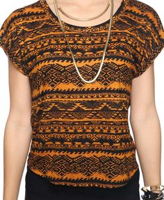 Boxy tribal top Forever 21 #fashion