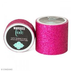 Cinta adhesiva de purpurina ancha Marquee Love - Rosa - 5,08 cm x 2,44 m - Fotografía n°1