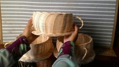 Anyaman rotan cangkir besar Rattan Basket, Straw Bag, Burlap, Reusable Tote Bags, Hessian Fabric, Canvas