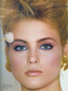 Kim Alexis blue eyes - 80s