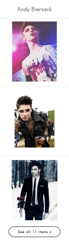 """Andy Biersack"" by mixer-1d ❤ liked on Polyvore featuring accessories, andy biersack, black veil brides, bvb, andy, bands, boys, people, phrase and quotes"