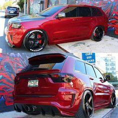 #Truck_Performance_ #Trokiando #SueloMob #JeepSRT #Nitto #DroppedTrucks #ThatPaint @tnt6927 Srt8 Jeep, Mopar, Jeep Cherokee Limited, Jeep Grand Cherokee Srt, Dropped Trucks, Badass Jeep, Dodge Journey, Chrysler Jeep, Mercedes