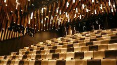 XTU_La Cité du Vin // L'amphithéâtre Thomas Jefferson © JPS Thomas Jefferson, Theatrical Scenery, Concepts, Concert Hall, Architecture, Theater, Interior, Openness, Stone