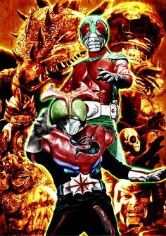 Kamen Rider and Kane Rider Stronger *