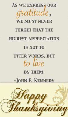 Thanksgiving quote from my favorite president! :)